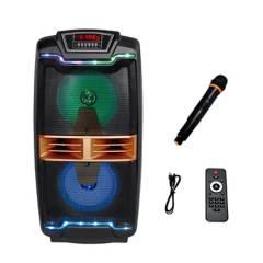 """GREEN E - Parlante Titán Karaoke Bluetooth 60W 2X8"""""""