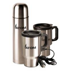 Atom - Set de Viaje Acero Inox Thermo + 2 Tazones