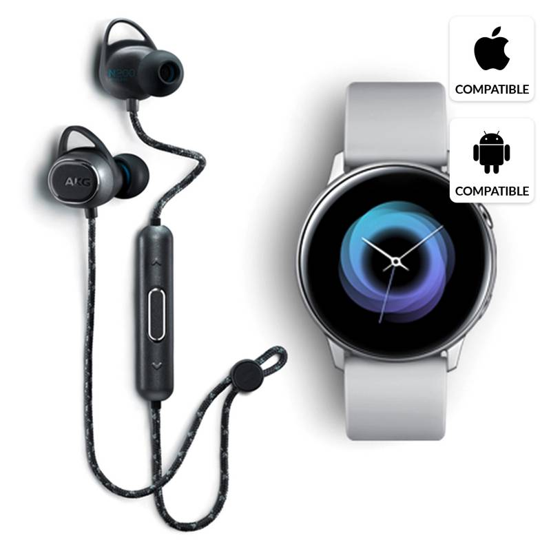 Samsung - Galaxy Watch Active Gris +AKGY200