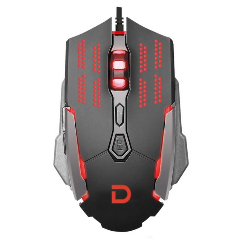 DATACOM - Datacom Mouse Gamer Datacom 3200Dpi 7 Botones Iluminacion