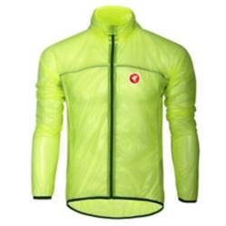 Cortaviento para Ciclismo Ultraligero Amarillo