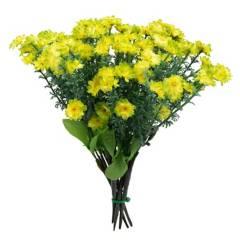 SOHOGAR - Pack de 25 ramos artificial flor gipso verde