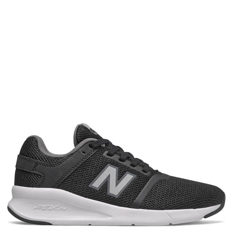 New Balance - YS24 Zapatilla Deportiva Niño Cuero Negra