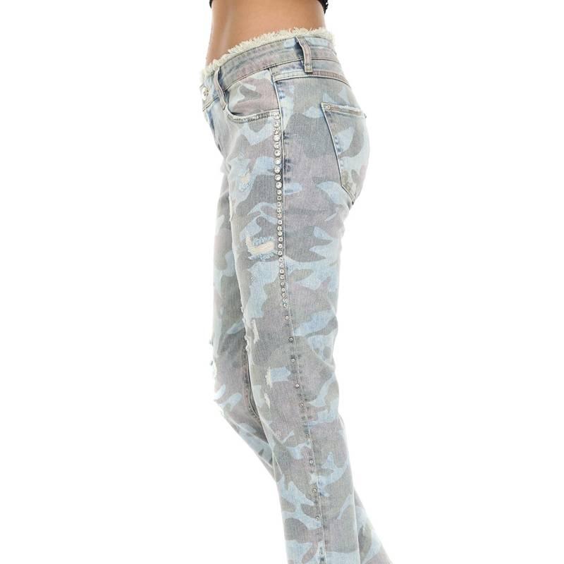 DISHE JEANS - Jeans Boyfriend Militar