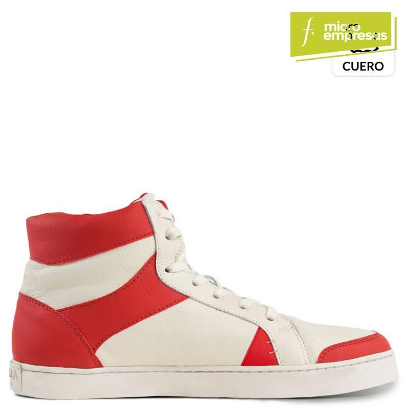 KRUZA - Zapatilla Sodax Hombre Blanco Rojo