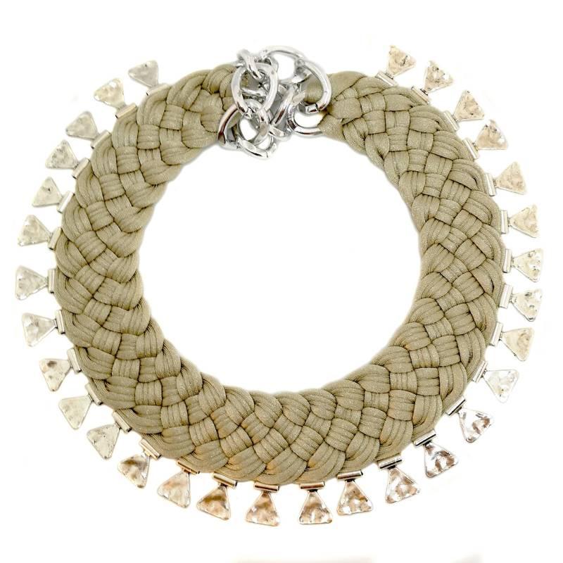 MARIA LA BIYUX - Collar Nude Triangular