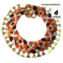 MARIA LA BIYUX - Collar Milagrito Triangular