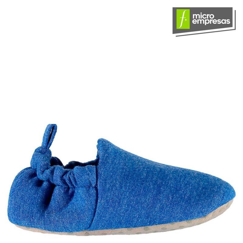 POCO NIDO - Zapatitos Mocasines Bebé y Niño - Jersey Azul