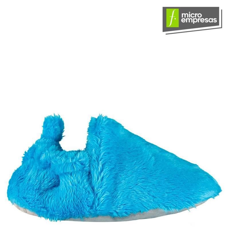 POCO NIDO - Zapatitos Mocasines Bebé y Niño - Peludo Azul