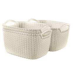 Keter - Set 3 Canastos Knit Rectangular S