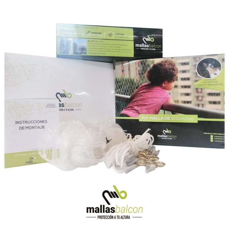 MALLAS BALCON - Mallas Balcon Kit Malla para Balcon o Ventana