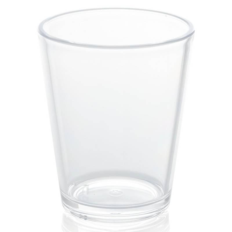 CRATE & BARREL - Vaso Acrílico Pop Transparente