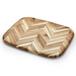 CRATE & BARREL - Tabla De Picar Herringbone de Madera Mediana