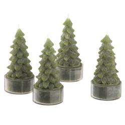 CRATE & BARREL - Set 4 Velas Árbol Verde