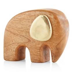 CRATE & BARREL - Adorno Elephant Madera y Latón
