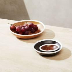 CRATE & BARREL - Set de 3 Bowls Pequeños de Madera A