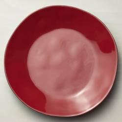 Plato de Fondo Marin Rojo