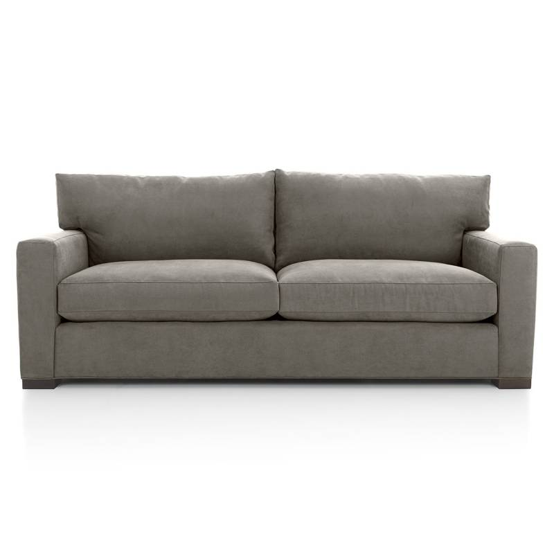 CRATE & BARREL - Sofa 3 cuerpos Axis II Gris