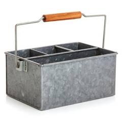 CRATE & BARREL - Contenedor para Cubiertos de Hierro