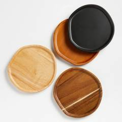 CRATE & BARREL - Set de 4 Platos Aperitivos Byhring