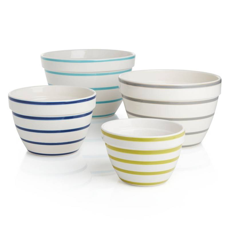 CRATE & BARREL - Set 4 Bowls Avery
