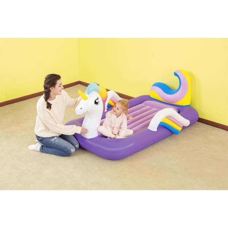 BESTWAY - Cama Inflable Infantil Unicornio