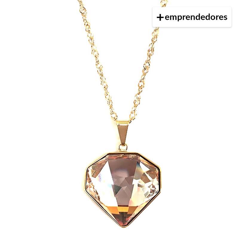 GLOSS CRYSTAL - Collar Copper Cristal Genuino