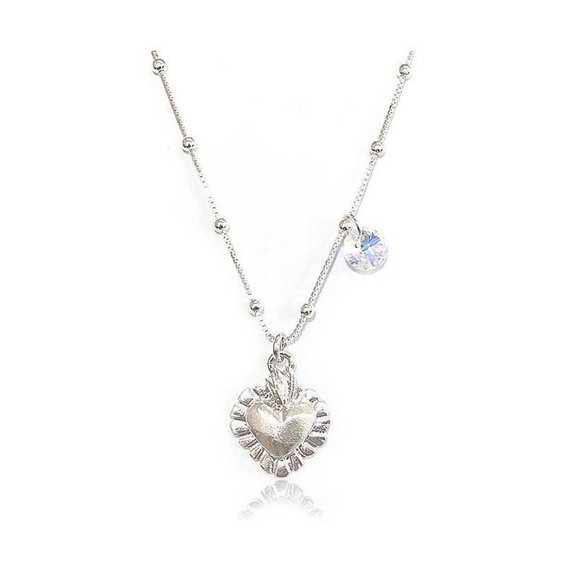 GLOSS CRYSTAL - Collar Detente Plata Cristal Genuino