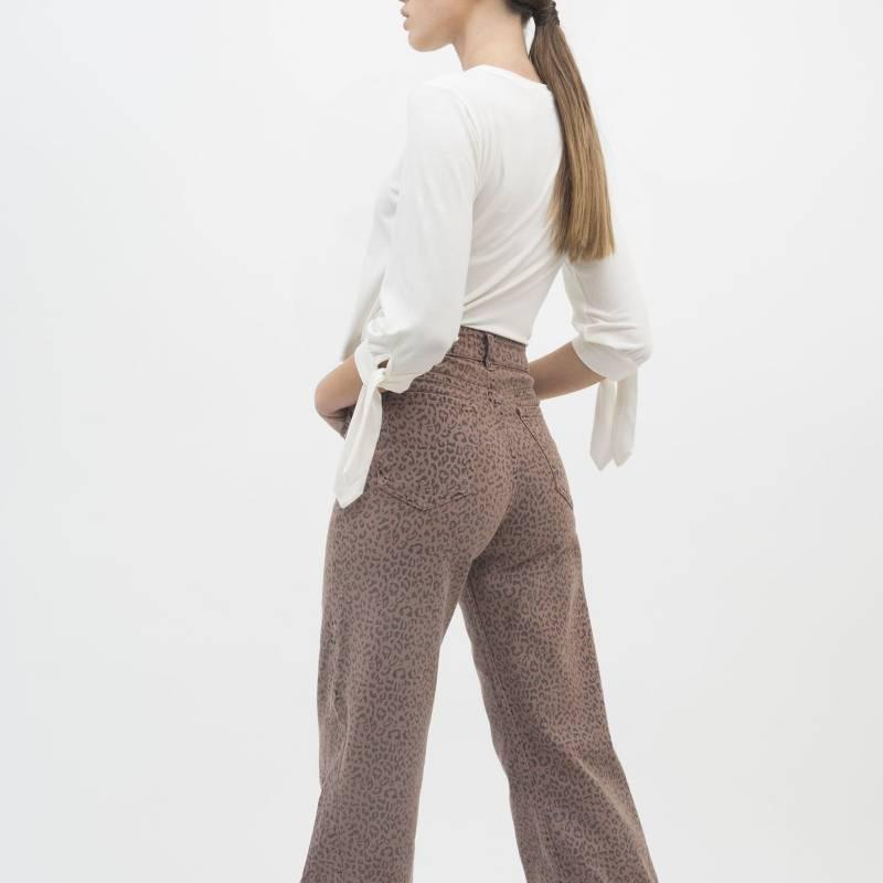 MONA - Jeans Flare Print