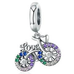 TODOJOYAS - Charm Bicicleta Love Plata Fina 925