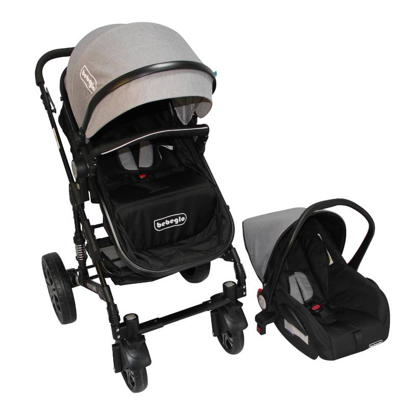 BEBEGLO - Coche Travel System Orleans Gris