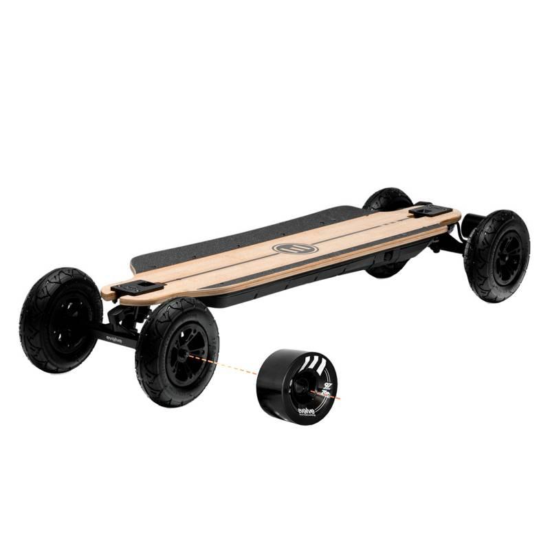 EVOLVE SKATEBOARDS - Longboard Skate Eléctrico Bamboo GTR 2 in 1