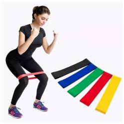 BASKO FITNESS - Band Loop Set Bandas Resistencia  Bolso