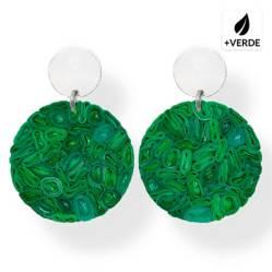 Joya Plástica Aros Leo M Verde