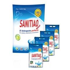 SANITIAO - Detergente Sanitiao 4 Bolsas de 3 kg C/U