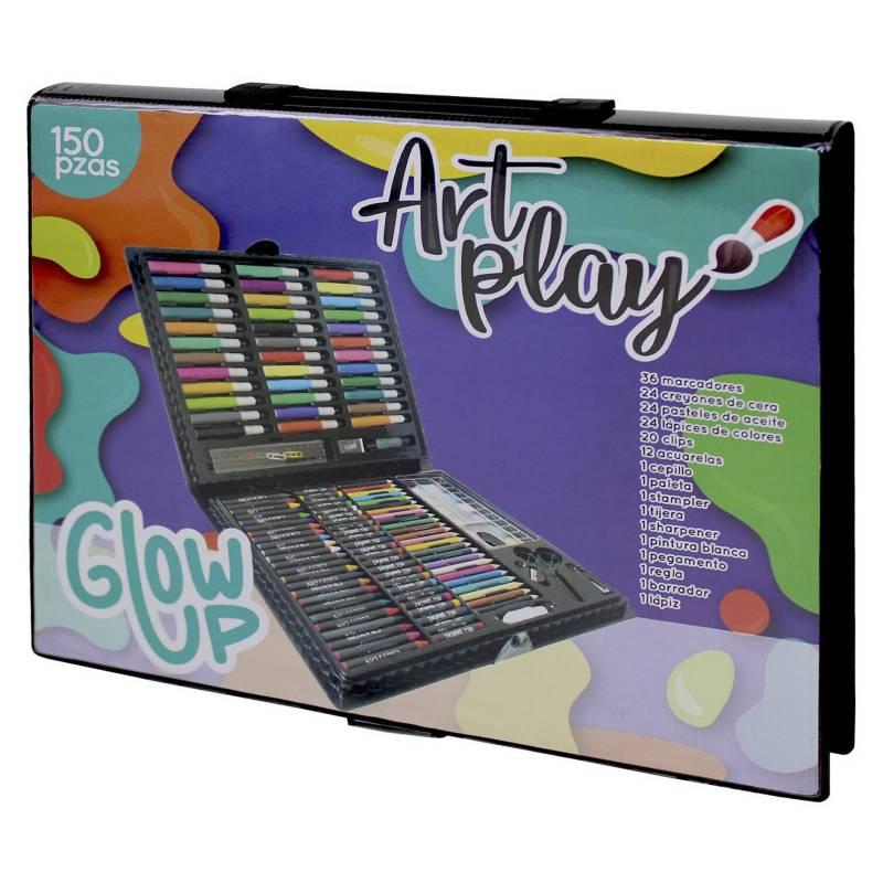 GLOWUP - Maleta de lápices y arte 150 piezas