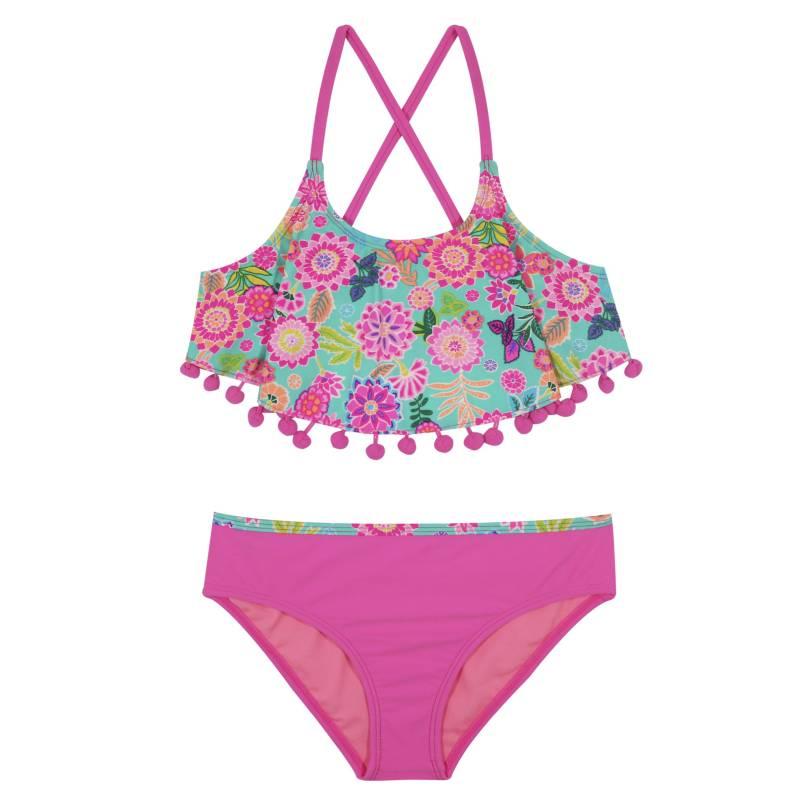 H2O WEAR - Bikini Niña Vuelos y Pompon +Uv30