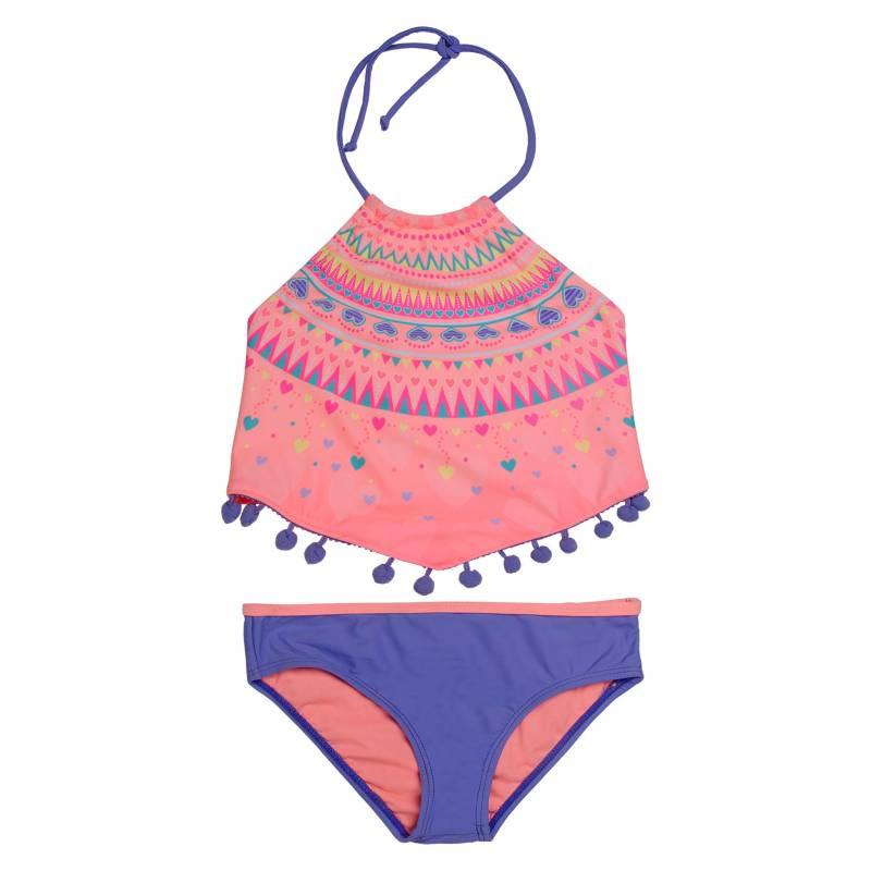 H2O WEAR - Bikini Niña Sublimado Pompon +Uv30