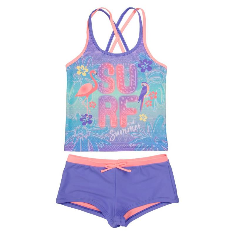 H2O WEAR - Tankini Niña Bretel Doble Vivos y Hot Pants +Uv30