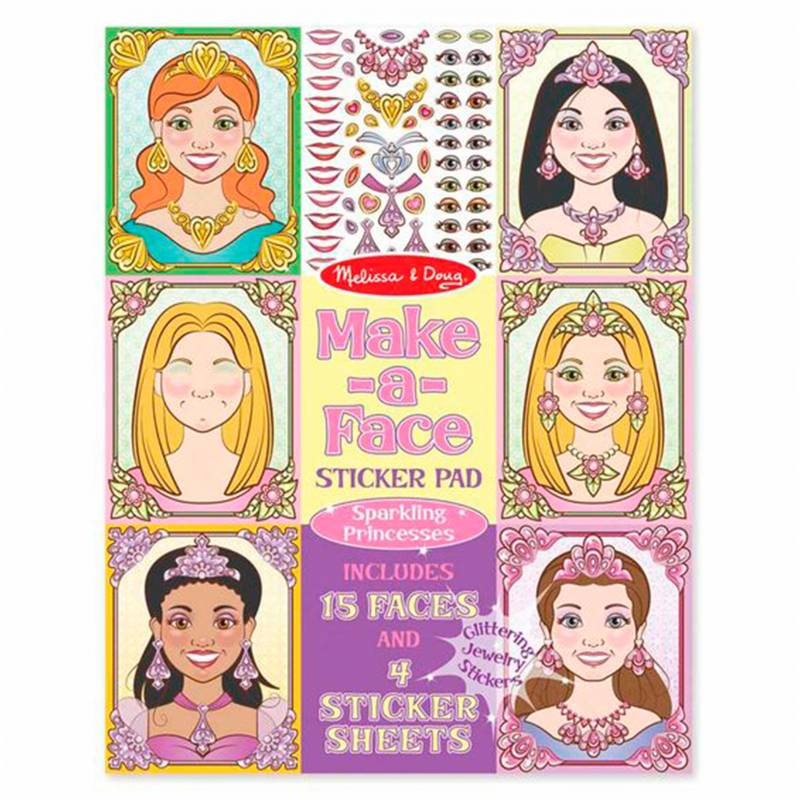 MELISSA & DOUG - Md Make a Face Sparkling Princesse