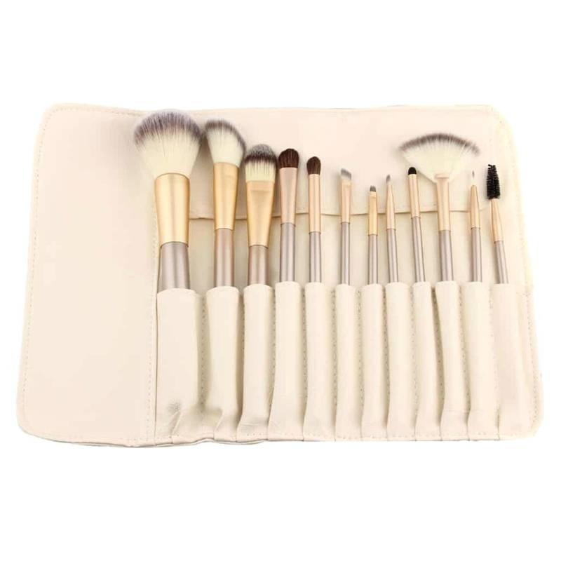 COSMETICAVAL - Set Profesional Brochas Maquillaje 12u.