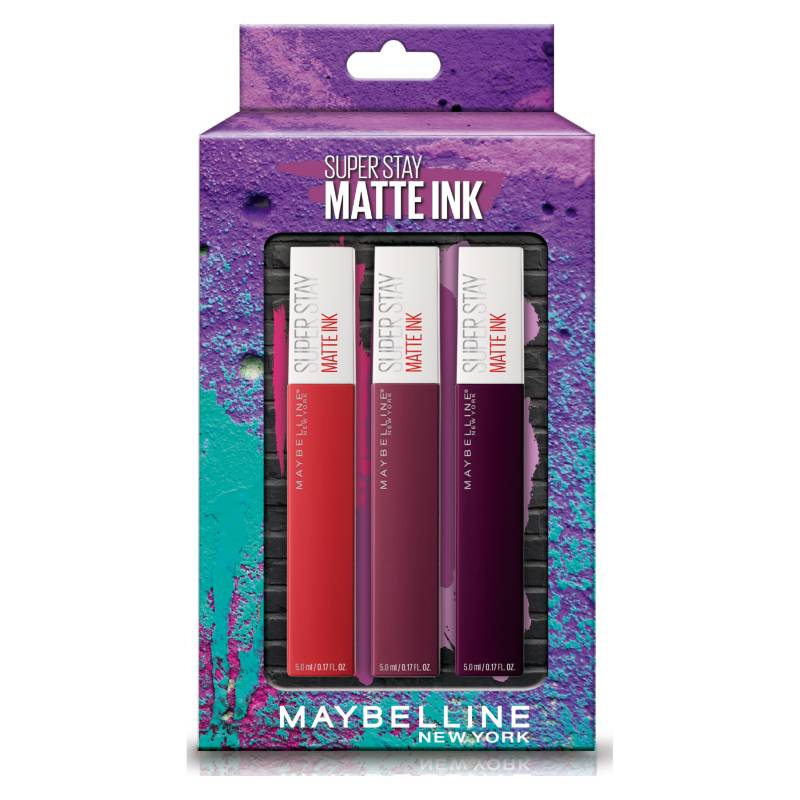 Maybelline - Pack Labiales Matte Ink+ Plum 8 Reds