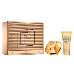PACO RABANNE - Set Perfume Mujer Lady Million EDP 80 ml + Body Lotion 100 ml