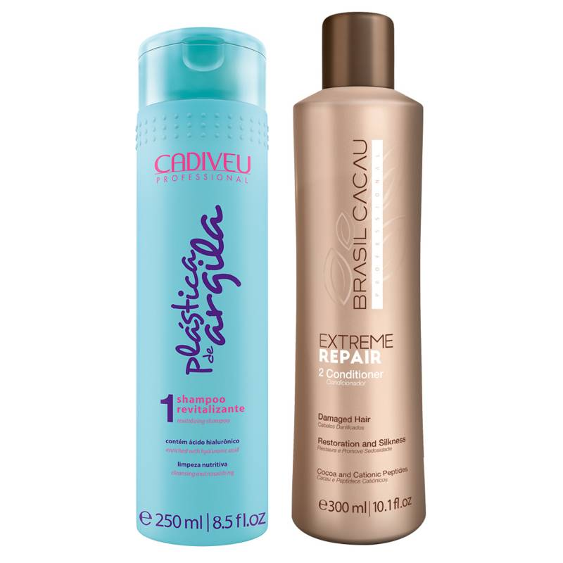 Cadiveu - Acondicionador Extreme Repair 300 ml + Shampoo Revitalizante 250 ml