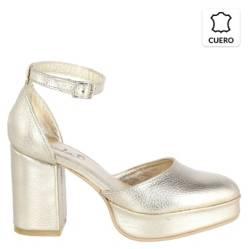 LEANDRA OMEGNA - Zapato Mujer Giovanni 9,5 Oro Viejo