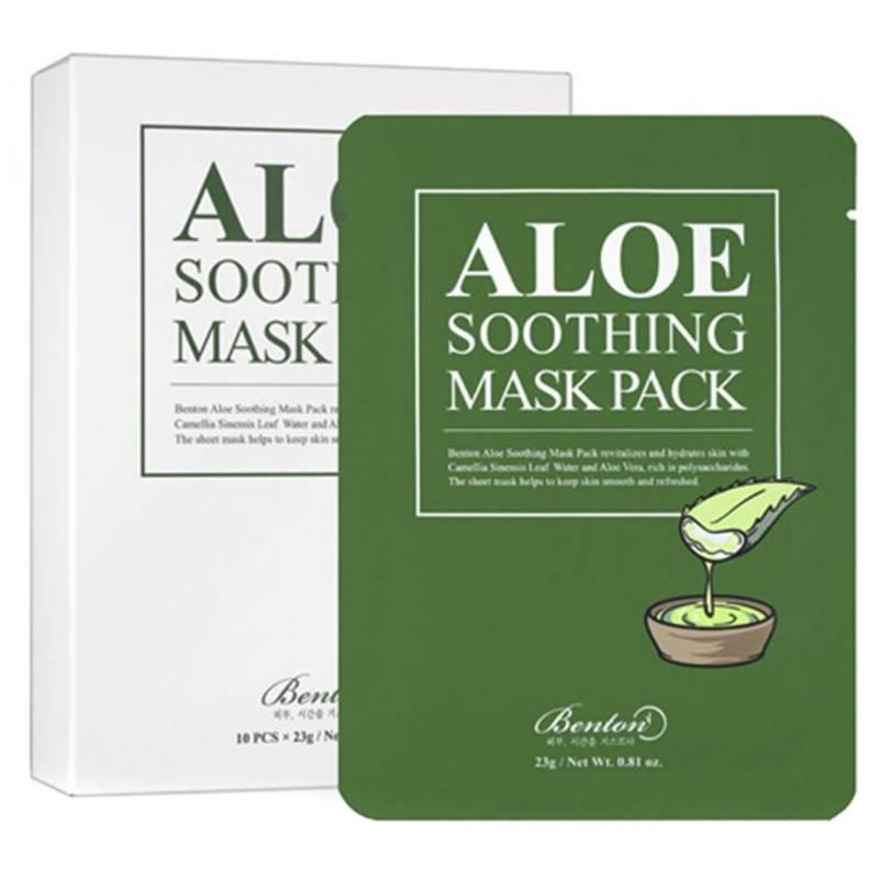 BENTON - Mascarilla Aloe Soothing Mask - Pack 10 unidades