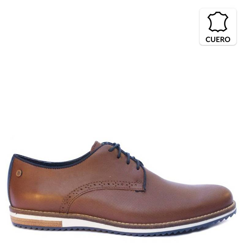 KAROSSO - Zapato Hombre 100% Cuero Venecia High Miel