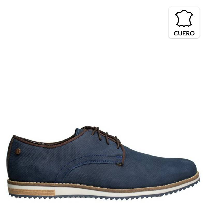 KAROSSO - Zapato Hombre 100% Cuero Venecia Low Marino