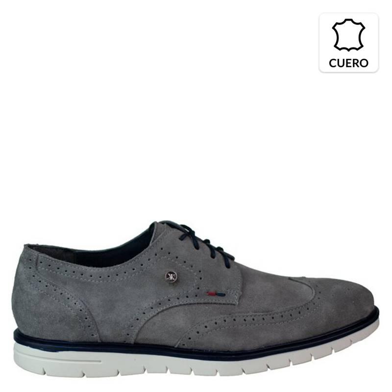 KAROSSO - Zapato Hombre 100% Cuero Tommy Low Gris