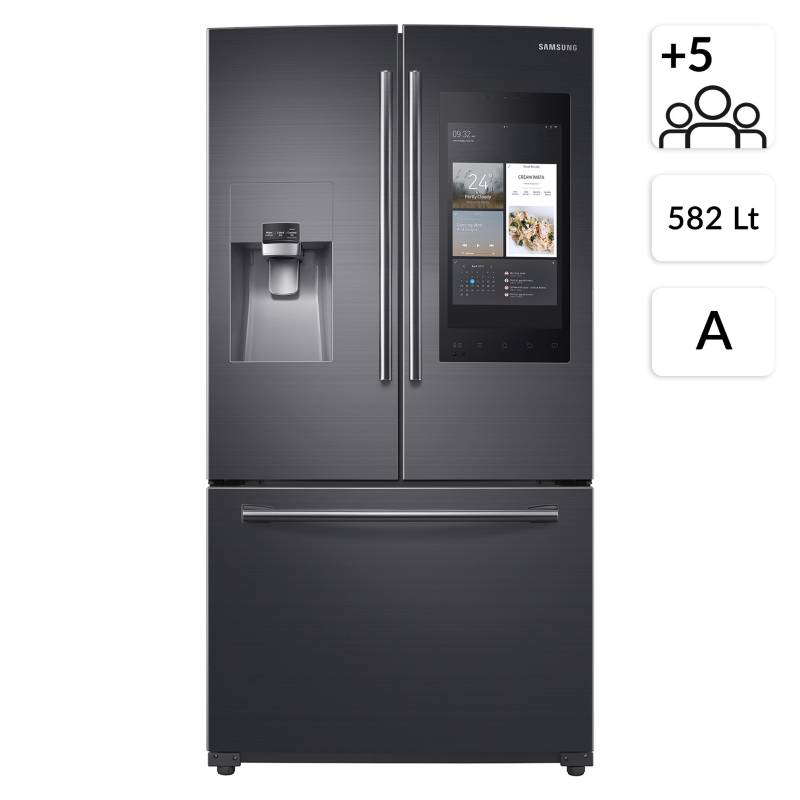 Samsung - Side By Side French Door 582 lt con Family Hub RF265BEAESG/ZS